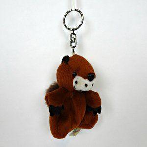 Groundhog Squirrel Beaver Backpack Key Ring Plush